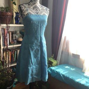 Petite Ann Taylor Blue Dress